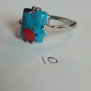 Jewelry - Blue speckled ring